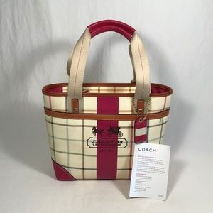 Coach Heritage Stripe Tattersall Bag (12219)